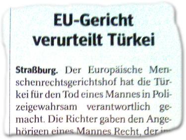 EU-Gericht verurteilt Türkei