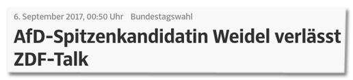 Screenshot Süddeutsche.de - Bundestagswahl - AfD-Spitzenkandidatin Weidel verlässt ZDF-Talk