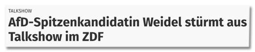 Screenshot nrz.de - Talkshow - AfD-Spitzenkandidatin Weidel stürmt aus Talkshow im ZDF