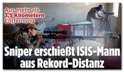 Ausriss Bild.de - Aus mehr als 3,5 Kilometern Entfernung - Sniper erschießt ISIS-Mann aus Rekord-Distanz
