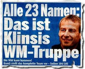 Alle 23 Namen: Das ist Klinsis WM-Truppe ... BamS stellt das komplette Team vor