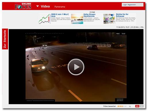Das gleiche Video, diesmal bei 'Focus Online'