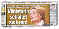 """""""Ministerin schaltet sich ein!"""""""
